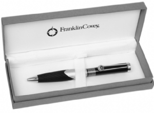 Franklin Covey Satin Chrome & Black Norwich Ballpoint Pen FC0062-2 1622 Boxed